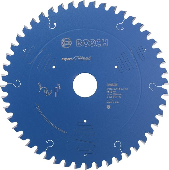 Bosch - Cirkelzaagblad Expert for Wood 210 x 30 x 2,4 mm, 48