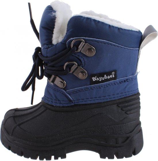 05df7096551 bol.com   Playshoes snowboots marine met veters - Maat 22/23
