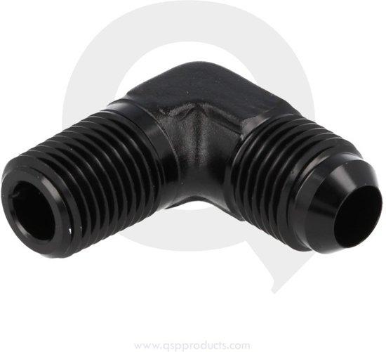 Aluminium adapter male 90° D04 - 1/8 NPT
