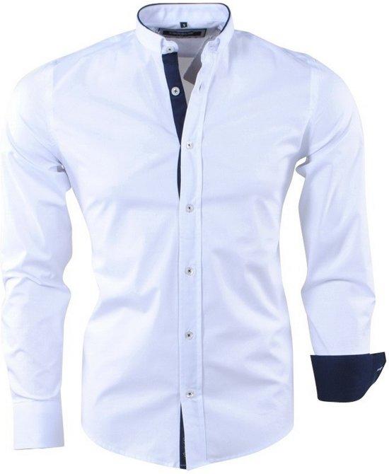 Overhemd Italiaans Design.Bol Com Carisma Trendy Italiaans Heren Overhemd Met Design Kraag