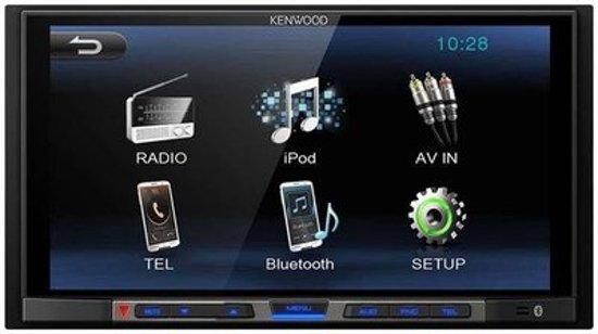 autoradio Kenwood inclusief 2-DIN VOLKSWAGEN Polo 2014+ (Black) frame Audiovolt 11-538