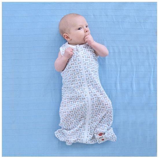 Lodger Baby slaapzak - Hopper Solid - Blauw/grijs - Lange mouw - 50/62