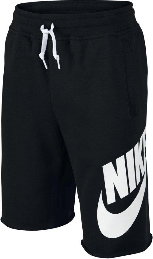 Nike Sportswear Short Junior Sportbroek casual - Maat 140  - Unisex - zwart/wit