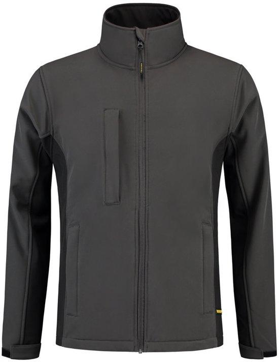 Tricorp Soft Shell Jack Bi-Color - Workwear - 402002 - Donkergrijs / Zwart - maat 4XL