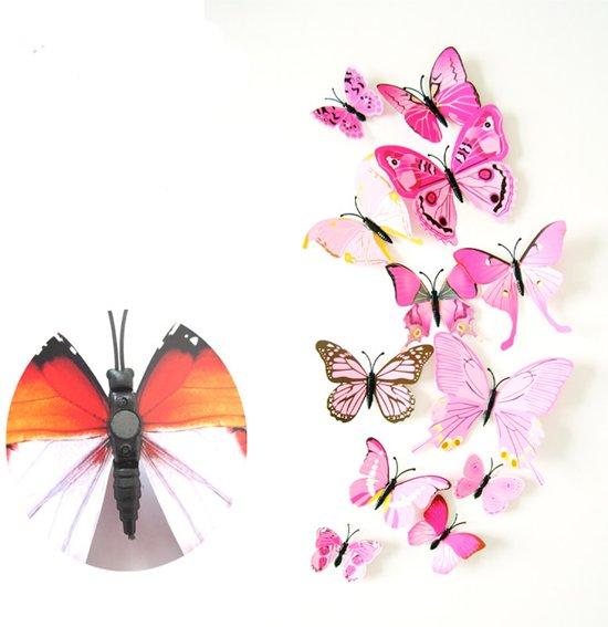 bolcom 3d vlinder stickersmagneten wanddecoratie