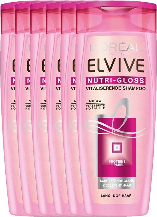 L'Oréal Paris Elvive Nutri-Gloss - 6 x 250 ml - Shampoo - Voordeelverpakking