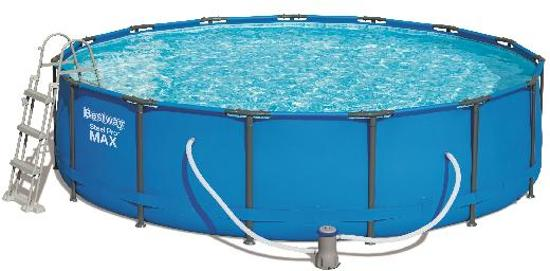Bestway Zwembad Sirocco frame Pro Max set rond blauw 457 - 107cm hoog