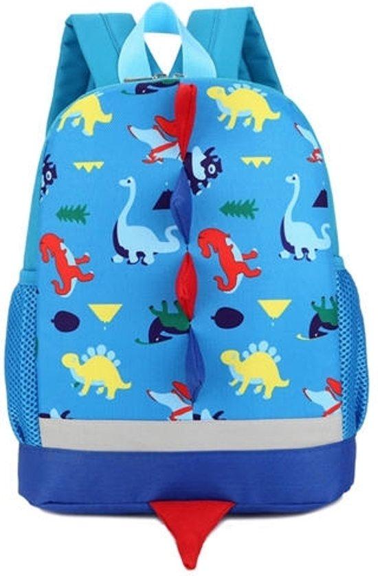 Rugzak cute cartoon dinosaurus school tassen voor kinderen (blauw)
