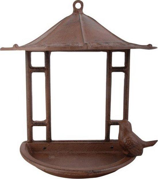 Wandmodel - Vogelvoederhuisje - Zwart - 13 cm x 23.5 cm x 24 cm - 2 stuks