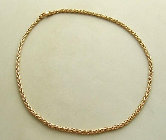 Geel gouden vossenstaart collier