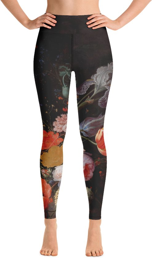 Relax - Yogalegging Dames - Hoge Taille - High Waist - Flowers