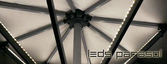 bol.com | LED PARASOLVERLICHTING 8X40CM MET BATTERIJ