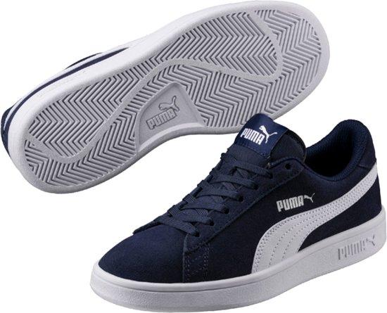Peacoat White Maat Jr Sneakers Smash V2 Kinderen 36 Sd Puma AZ0Ywqw