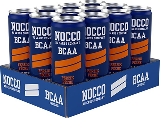 Nocco - No Carbs Company Nocco BCAA drink 1 blikje a 330ml Peach