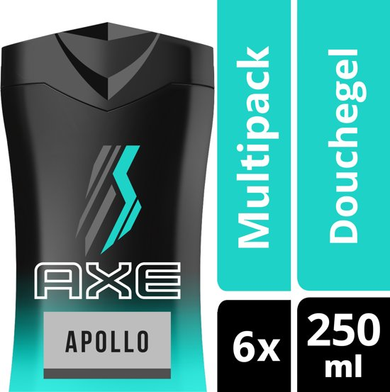 Axe Apollo For Men - 6 x 250  ml - Douchegel - Voordeelverpakking