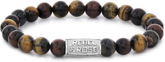 Rebel&Rose armband - Who'S Afraid Of The Tiger - 8MM L (19CM)