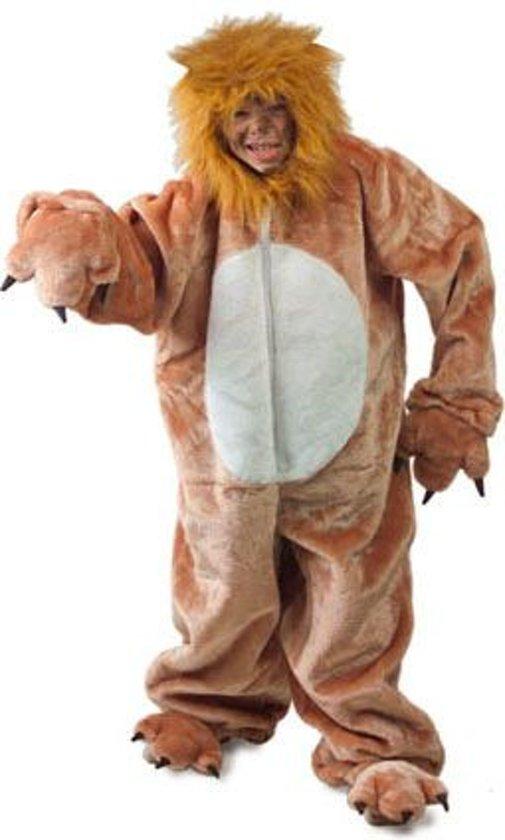 Dierenpak Leeuw kind met capuchon Maat 164