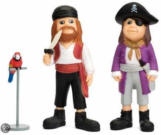 Micki Figuren piraat, rosalinda en papegaai
