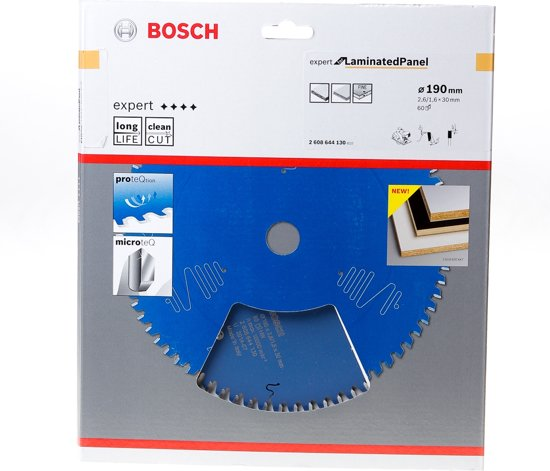 Bosch Cirkelzaagblad 60 tanden Laminated Panel ABT 190 x 30 x 2.6mm