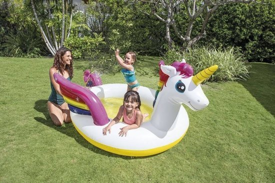 Zwembad opblaasbaar Intex eenhoorn: 272x193x104 cm