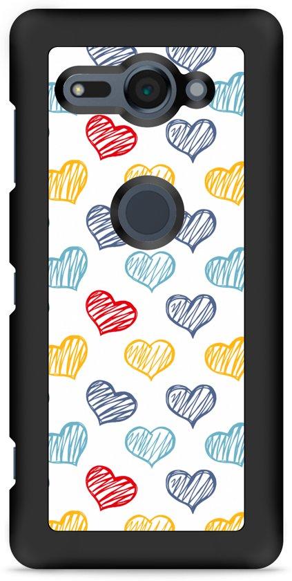 Xperia XZ2 Compact Hardcase Hoesje Doodle hearts