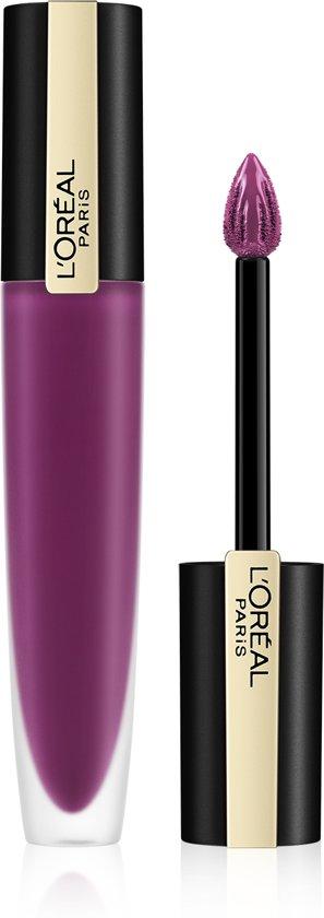 L'Oréal Paris Rouge Signature Lippenstift  - 104 Rebel - Matte Vloeibare Lipstick - 7 ml