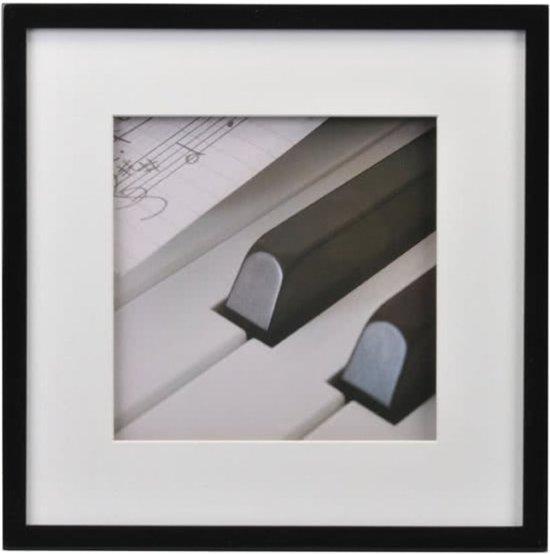 bol.com | Henzo Piano - Fotolijst - Fotomaat 30x30 cm - Zwart