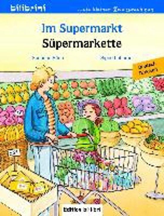Im Supermarkt. Kinderbuch Deutsch-Türkisch