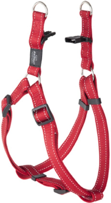 Rogz For Dogs Lumberjack Step-In Hondentuig - 25 mm x 67-103 cm - Rood