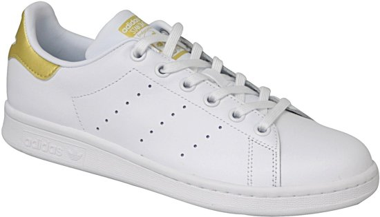 Chaussures Adidas Stan Smith - Taille 36 2/3 - Unisexe - Blanc / Or jeFYuaiThI