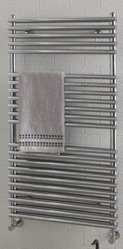 bol.com | Eastbrook Biava chroom double tube on tube radiator badkamer