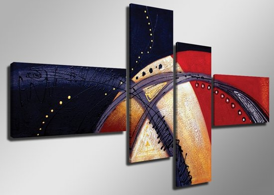 Planeet - Canvas Schilderij Vierluik 160 x 70 cm