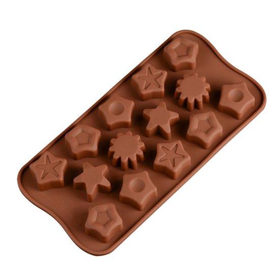 Kitchen Princess - Siliconen Chocoladevorm Sterren - Fondant Bonbonvorm