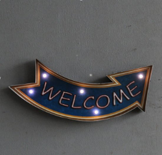 Retro-Led-Sign Welcome