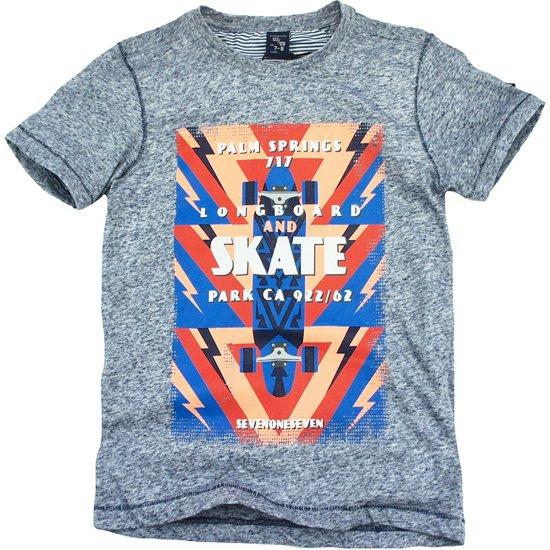 Sevenoneseven t-shirt jongens - navy melee - Timothy - maat 158/164