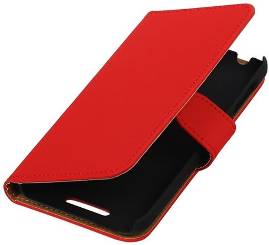 Rood HTC Desire 510 Hoesjes Book/Wallet Case/Cover
