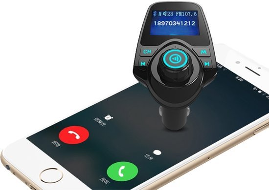 5 in 1 Draadloze Universele Bluetooth Auto MP3 Speler / FM transmitter / LED Display / Handsfree bellen / 2 x High Speed USB Oplader / SD,TF Card Ondersteuning / USB Stick / 3.5mm Jack AUX voor alle smartphones in Deurne