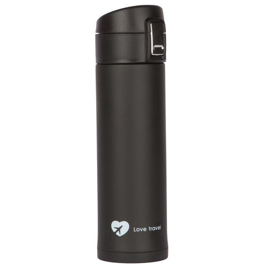 Travelsky Dubbelwandige Thermosfles - RVS - Elegant Black