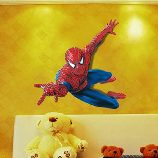 Muurstickers Kinderkamer Spiderman.Bol Com Muursticker Spiderman Marvel 3d Kinderkamer Jongenskamer