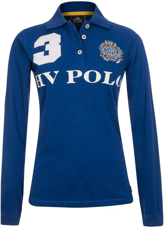 HV Polo Favouritas Eques LS - Polo Shirt - Royal Blue - XS