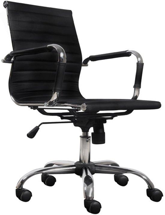 Bureaustoel Met Verstelbare Rugleuning.Bol Com Chelsea Bureaustoel Bureaustoel Business Chroom Zwart