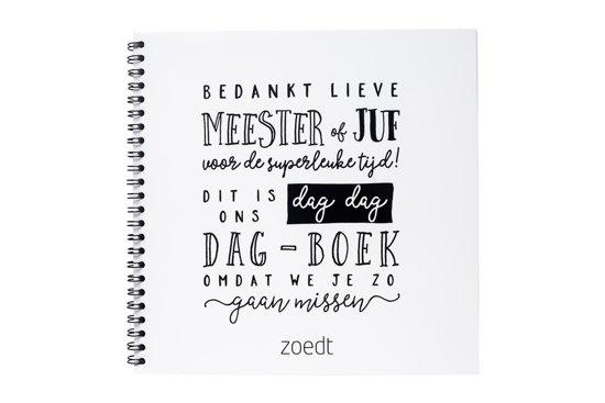 Dag dag dagboekje - afscheidsboekje voor meester en juf