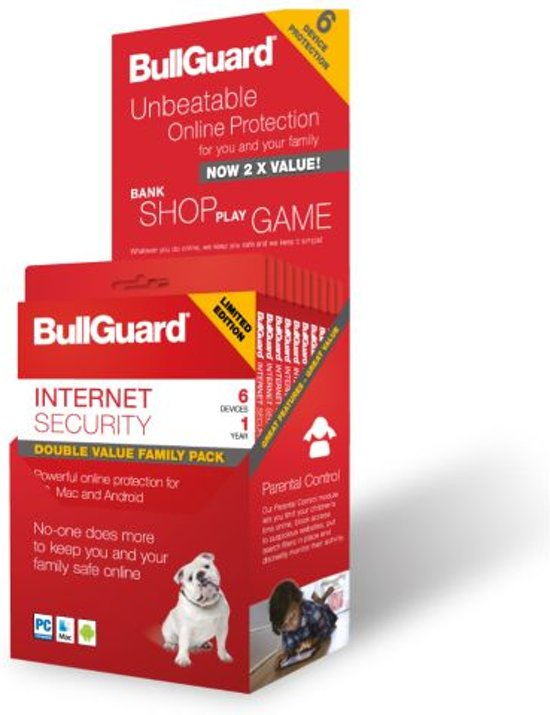 Bullguard Internet Security - 6 Apparaten - Nederlands / Frans - Windows / Mac / Android - Limited edition