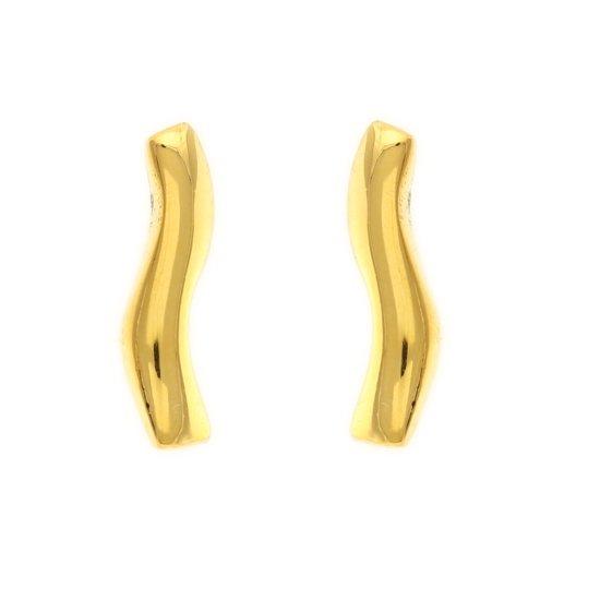 Behave® Dames oorbellen staafjes goud-kleur 2cm