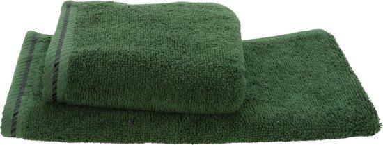 ARTG Towelzz® -  Gastenhanddoek - Donkergroen - 30 x 50 cm - Set 10 stuks