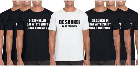 Vrijgezellenfeest heren t-shirt pakket De Sukkel - 7 shirts - maat M