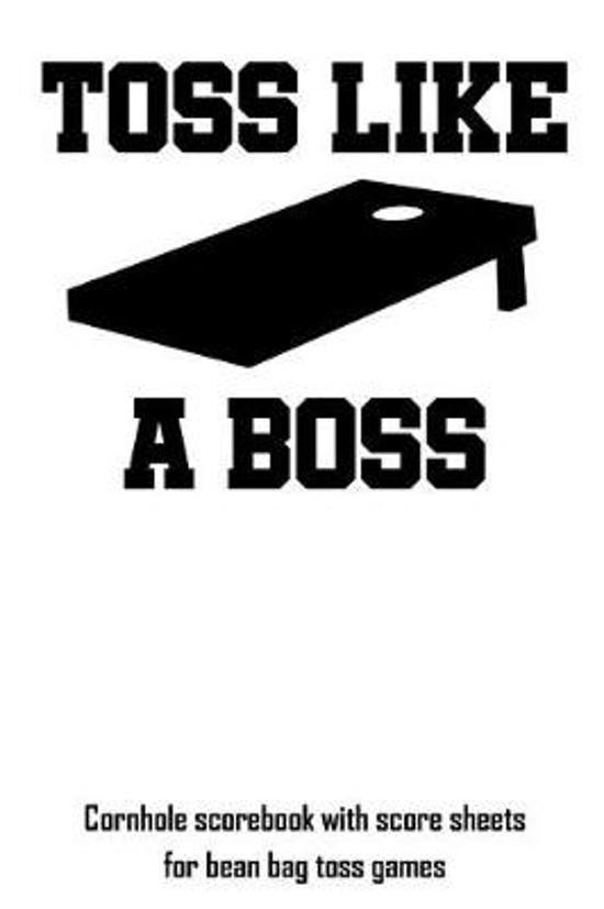 Fantastic Bol Com Toss Like A Boss Cornhole Scorebook With Score Machost Co Dining Chair Design Ideas Machostcouk