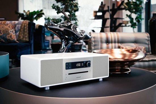 Sonoro Lounge - Dab radio - CD-Speler - Bluetooth - Hoogglans Wit