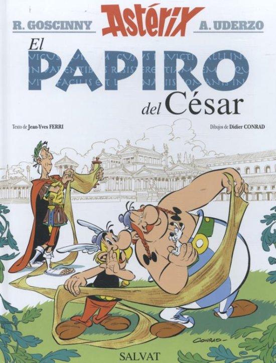 Boek cover Asterix 36 - El papiro del César van Jose Zafra Castro (Hardcover)