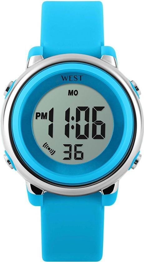 West Watch - digitaal kinder horloge – meisjes - LED - model Star – licht blauw